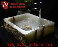 Natural stone white onyx lowes onyx bathroom sink countertop