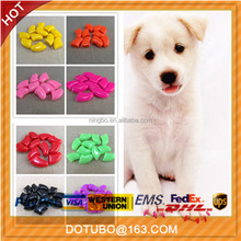 Pet grooming-colorful dog nail cap/dog soft paw nail caps 6 size availalbe