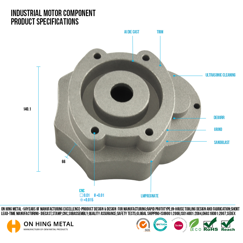 high precision die casting electric motor parts