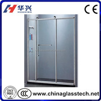 Anti-aging Waterproof Glass Panel Pvc Bathroom Door
