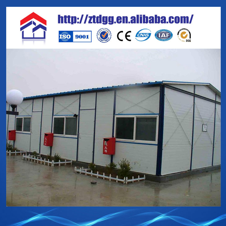 Fast erection concrete flat roof house designs from China manufacturer