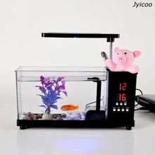 new style JYX 2014A-1 multi functional USB mini aquarium and fish tank fish bowl