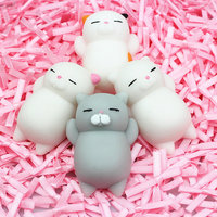 Soft funny 3D Cute Rubber animal Cat squishy animal sticky toy for kids
