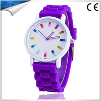 Alibaba wholesale Hot Sale 12 Color Silicone Rubber Jelly Gel Quartz Analog Fashion Sports Women Girl Wrist Watch GW005