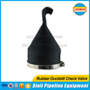 Rubber sewage disposal duckbill check valve