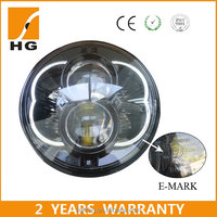 Hot sale Emark 5.67inch 48w high low beam round jeep wrangler led headlight car accessories12v 24v