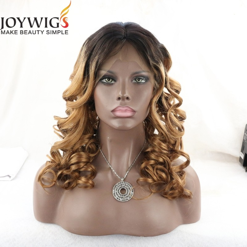 Top selling 100% virgin brazilian human hair ombre full lace wig blonde ombre wig