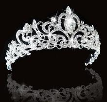 Bridal Princess Austrian Crystal Tiara Wedding <strong>Crown</strong> Veil Hair Accessory