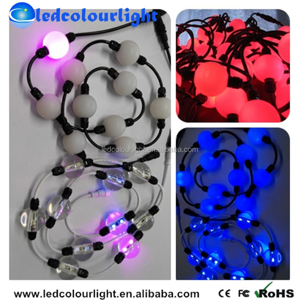 3D Effect Nightclub Decorate / Full Color RGB DMX LED Pixel Ball /LED Light Orbs