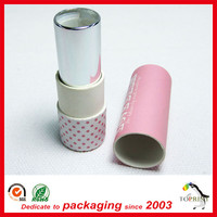 Twist Up lipstick tube packaging/ Paper lipstick Tube factory