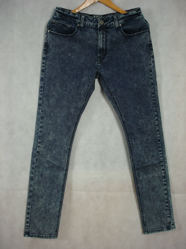 Mens Acid blue stretch denim jeans