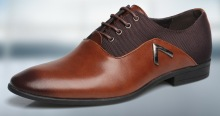 2016 New Italy style shoes men casual with genuine leather