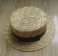 Top Seller Natural Wheat Straw Woven Flat Top Hat