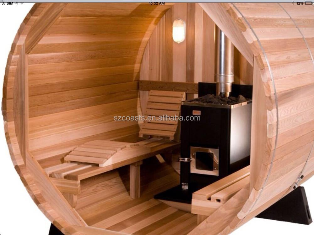 Wundervoll Red Cedar 2 Personen Im Freien Runden Sauna Zimmer Zum Verkauf  FZ75