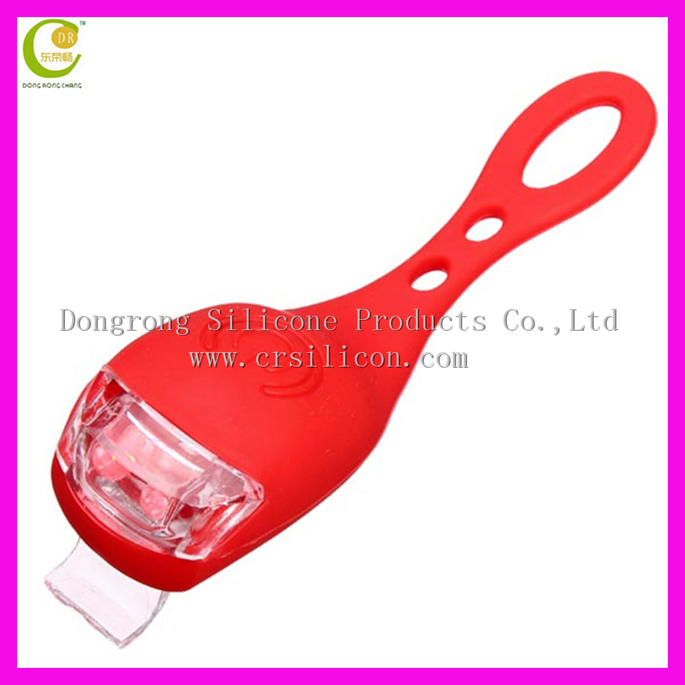 20 Lumens <strong>Max</strong> 150 Hours Working Time Diamond Ruby LED Silicone Rubber Bike Light