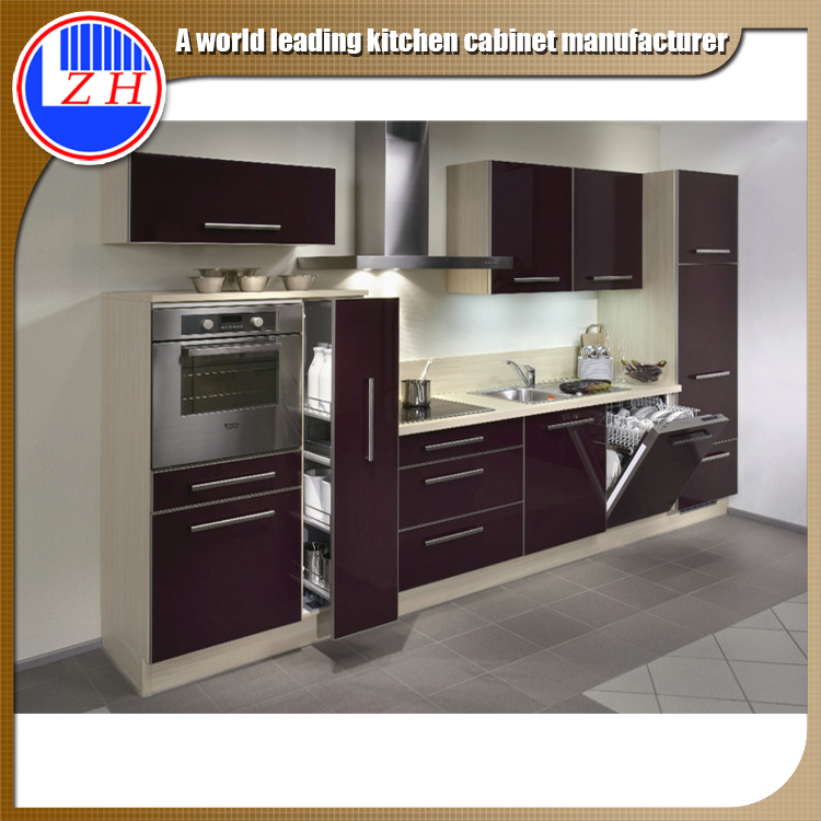 Kitchen Cabinets Quick Delivery iso9001 factory fast delivery pvc uv acrylic kitchen whole set