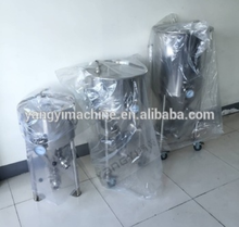 Home brewing stainless steel jacketed concial fermenter equipment