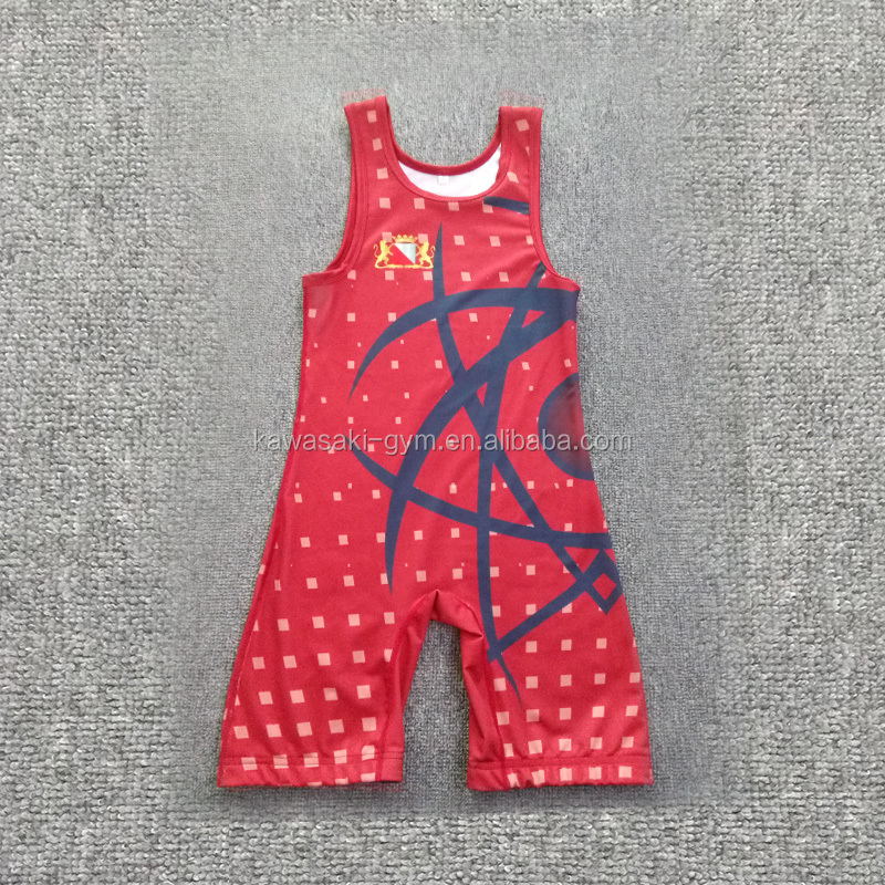 custom factory cool dry sublimated wrestling singlets nice design