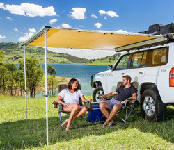 Retractable Aluminium Folding Shade Caravan 4x4 RV Car Side Awning for Camper/Camping/outdoors