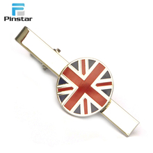 Fashion style round UK national flag pin cufflinks tie clip set