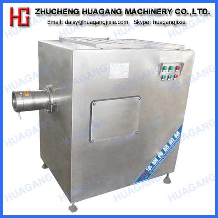 Industrial frozen meat grinder machine