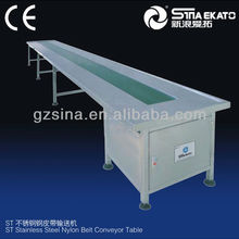high quality stainless steel nylon belt conveyor belt for cosmetic