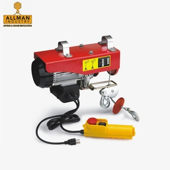 ALLMAN 220V single phase AC power source pa600 300/600kg electric cable hoist winch