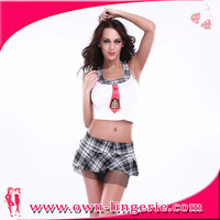 Hot Sale short dress costume sexy school girls