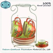 Lead-Free Hand Painted Fruit Buy Japanese Formal One Person Tea Set