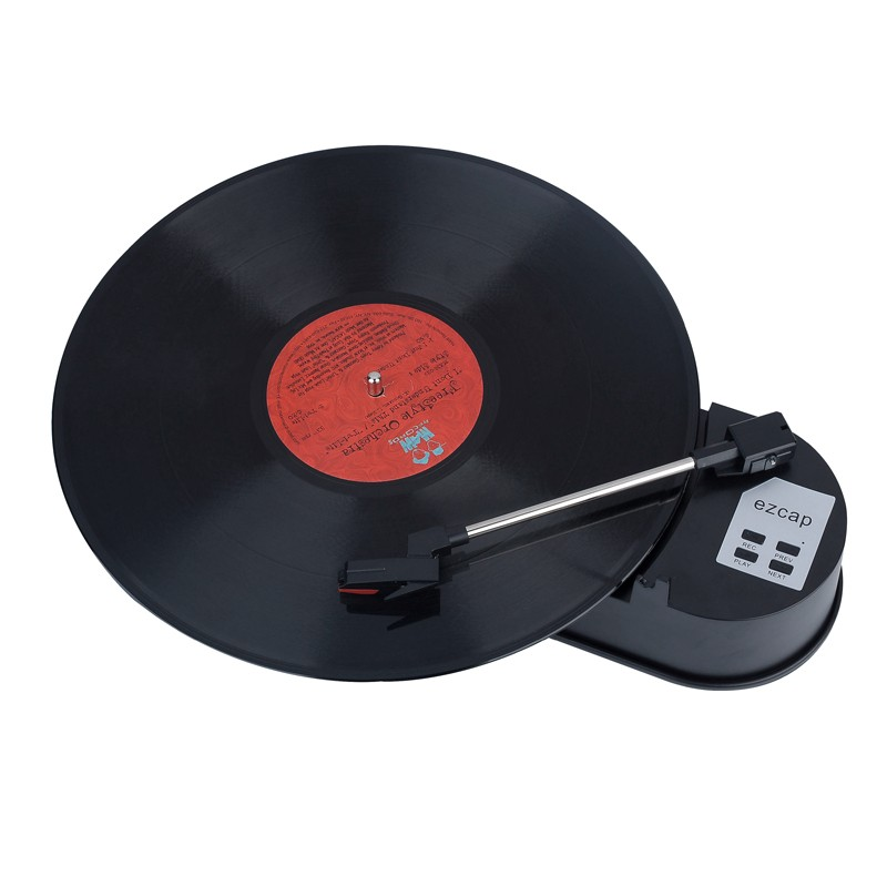 2016 Ezcap New Portable Phonograph Mini USB Turntable Record Player Vinyl LP to MP3 USB Flash-Drive Converter with TF Slot