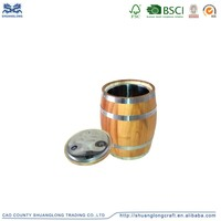 Oak and pine wood decorative mini wine barrel for beer