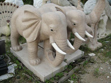sculpture elephant for outdoor decoration