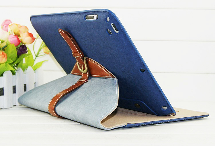 360 Degree Rotating Leather Case, Stand Belt Flip Leather Cover for iPad5