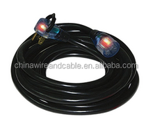 J100420 Welding Machine Cord 40A STW 8/3 W/Lighted Ends 50ft/Black 50Ft 8/3 Lighted Welding Cord for Portable Welde