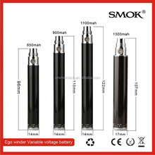 ego variable voltage e-cigarette 650mah variable voltage battery