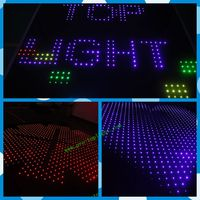 Stage decoration for festival!Acrylics decorative graphic led animation dance floor