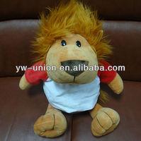 30 35cm Plush Stuffed Big Lion Toy with T-shirt