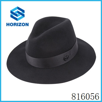 Wholesale various size black fedora hat wool felt jewish hat with great quality