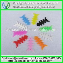 Dongguan factory Wholesale rainbow silicone fish bone wire cable organizer