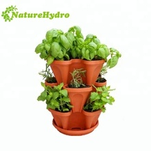 Hot selling plastic vertical gardening vegetable tower plant pots
