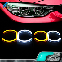 2016 High temperature double color led angel eye for bmw e90 accessories