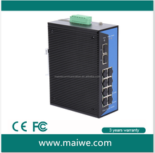 8x10/1000Base-T(X) and 2xGigabit SFP optical ports, managed 10 port Industrial Ethernet switch