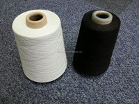 Waxed quoted Ring spun polyester yarn 8S to 30s/1 , recycled polyester spun yarn for knittiing