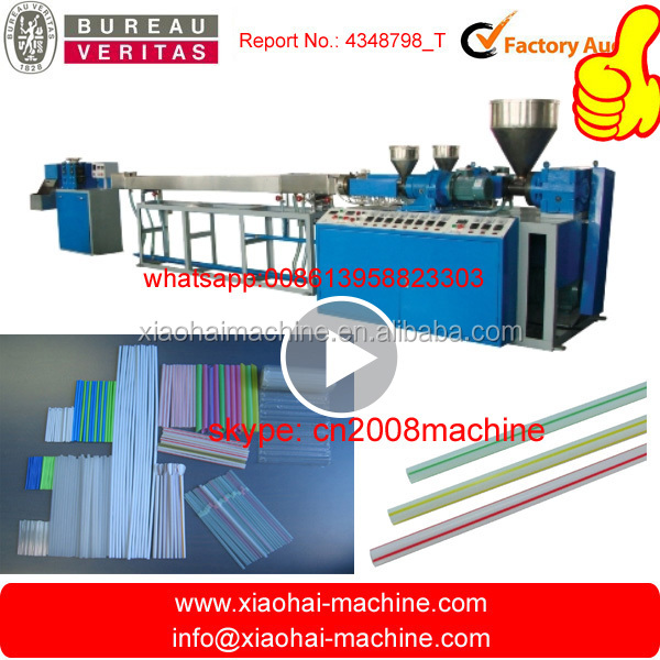 HAS VIDEO Straight / Flexible PP PE plastic drinking straw making machine for juice,coffee