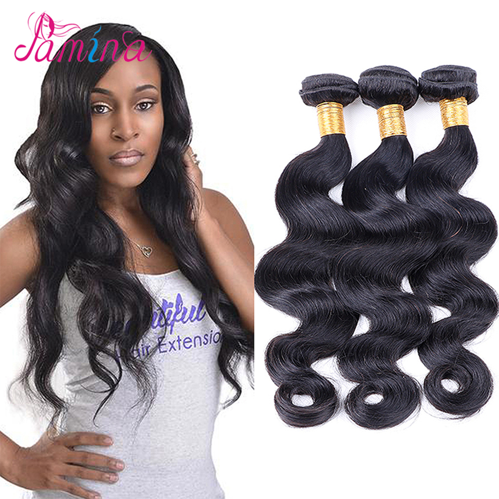 "Grade 8A Mongolian Body Wave Virgin Human Hair Extensions Natural Black Hair Weave Bundles 8~28""inch <strong>Thick</strong> And Soft 3Pcs Lot"