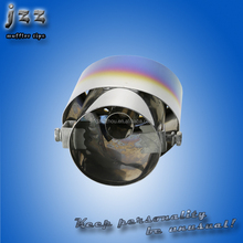 JZZ high quality blue akrapovic stainless steel ID-63mm single exhaust mufflers for forklift parts