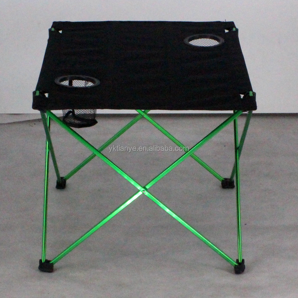 Camping Table, Folding Picnic table with Strong Aluminum Frame for Outdoor Kitchen, Assemble in 30s