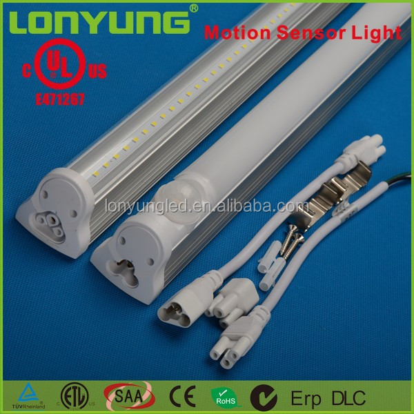 mobile phone light sensor LED Integrated Tube UL ETL TUV Linkable In Wire For warehouse 4ft 5ft 6ft 18w 25w 30w