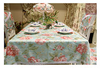 New design stylish 100% Cotton Yarn Dyed Table Cloth high density table cloth