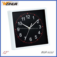 Square plastic wall clock silent